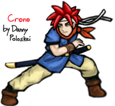 Crono from Chrono Trigger by Danny Poloskei
