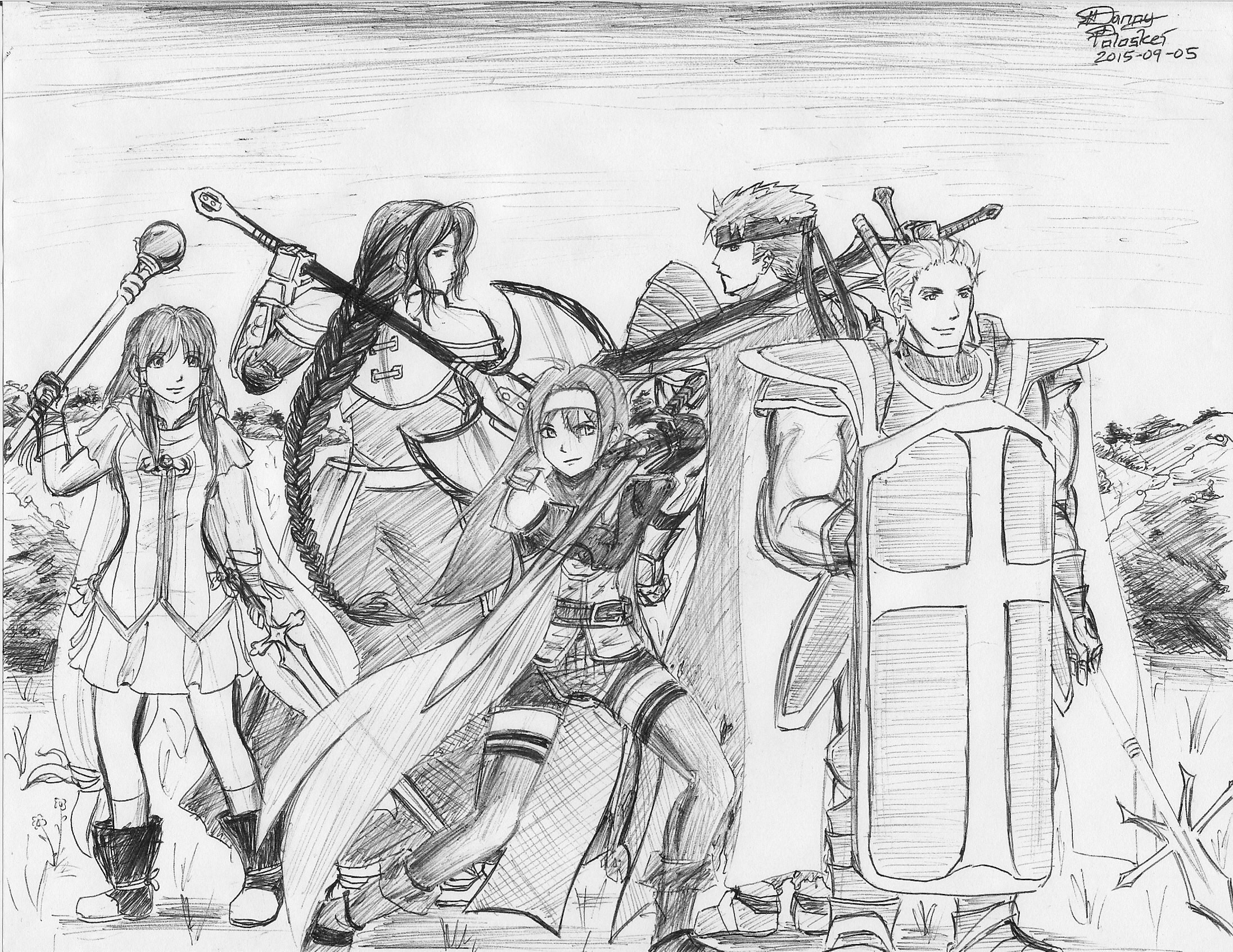 Fire Emblem: Path of Radiance - Mist, Titania, Mia, Ike, and Gatrie by Danny Poloskei