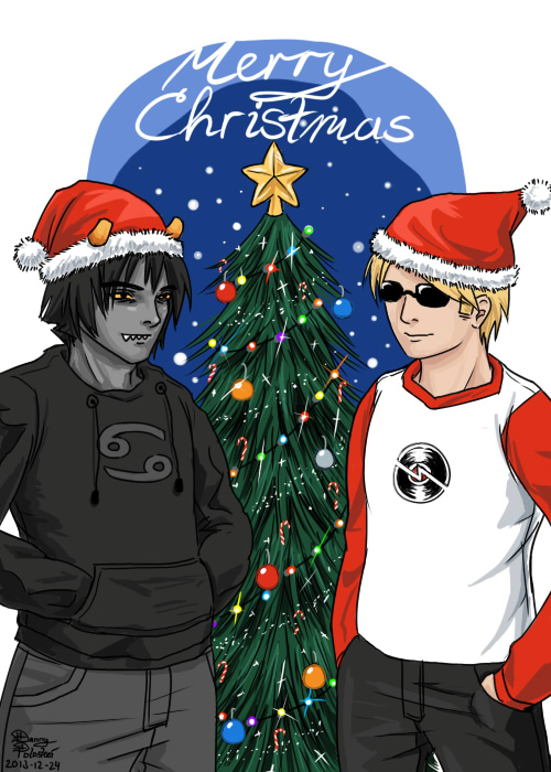 Karkat Vantas and Dave Strider from Homestuck by Danny Poloskei