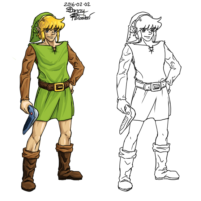 Link from the original Link's Awakening by Danny Poloskei