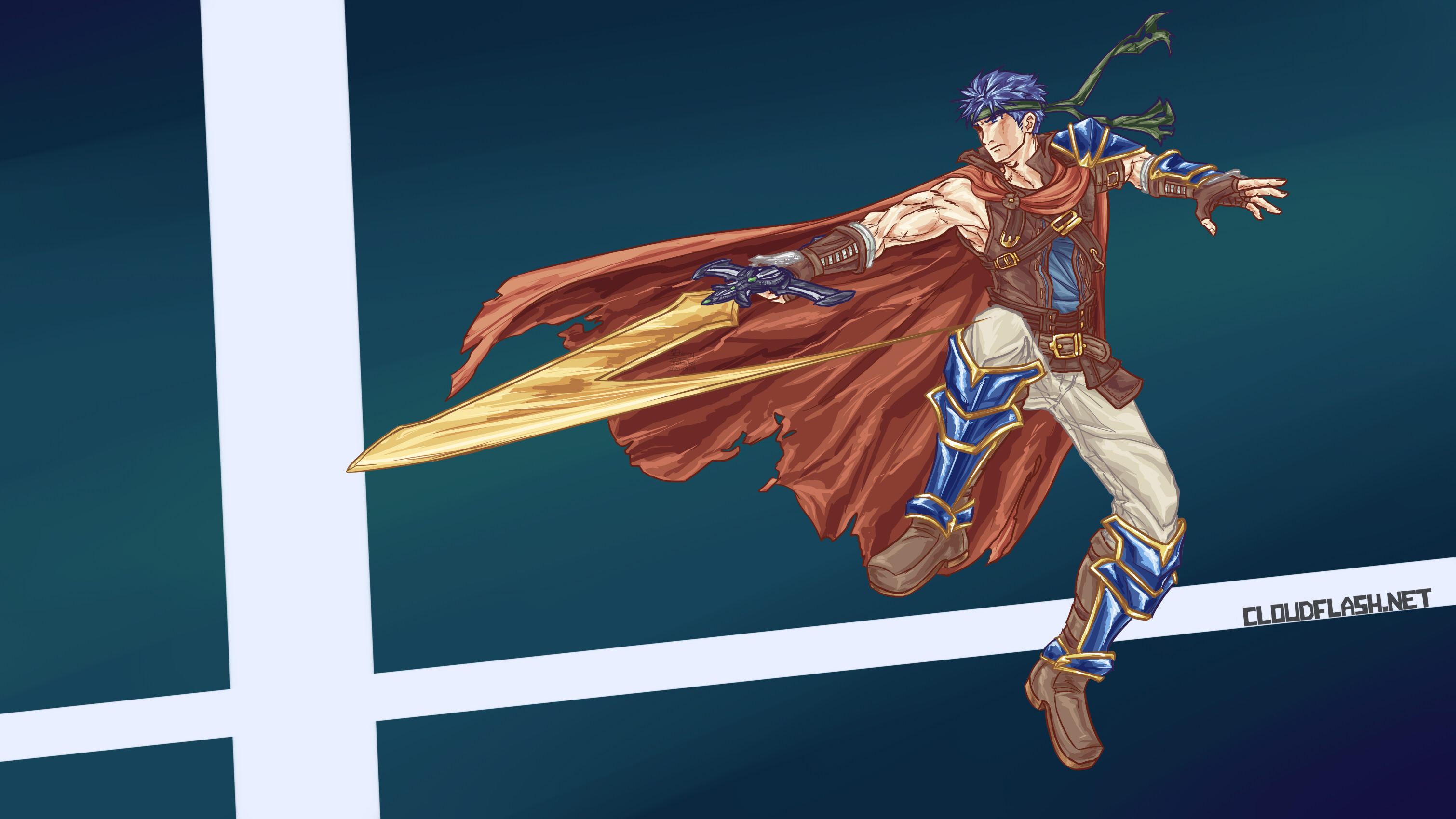 Super Smash Bros Ultimate Ike (Fire Emblem: Radiant Dawn adult version) - Repositioning Slash by Danny Poloskei