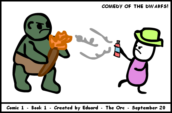 Comedy of the Dwarfs #1 - The Orc - by Eduard